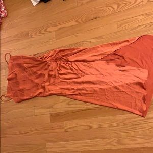 NWT rust satin like forever 21 slip dress